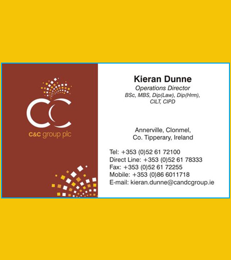 Sure print Business Card